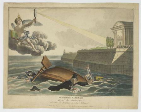 Assemblée Nationale, écueil des aristocrates, le génie de Rousseau en éclaire l'entrée
