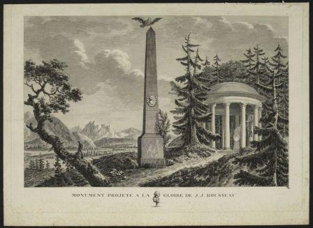 Monument projeté à la gloire de Jean-Jacques Rousseau