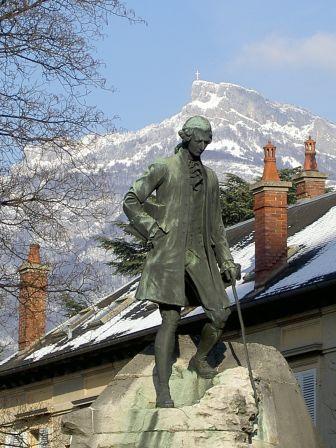 Statue de Jean-Jacques Rousseau à Chambéry