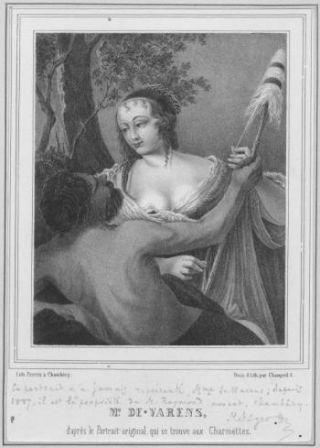 Mme de Warens, d'après le portrait original qui se trouve aux Charmettes