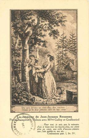 La Jeunesse de Jean-Jacques Rousseau : Partie champêtre à Thônes avec Melles Galley et Graffenried