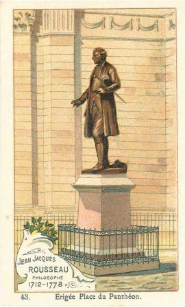 Jean-Jacques Rousseau, philosophe, 1712-1778, [statue] érigée place du Panthéon