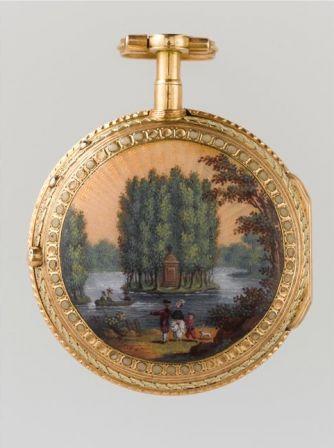 Montre ronde : Le Tombeau de Jean-Jacques Rousseau d'après J.-M. Moreau le Jeune