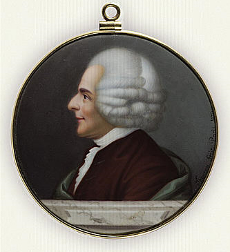 Portrait de Jean-Jacques Rousseau, de profil