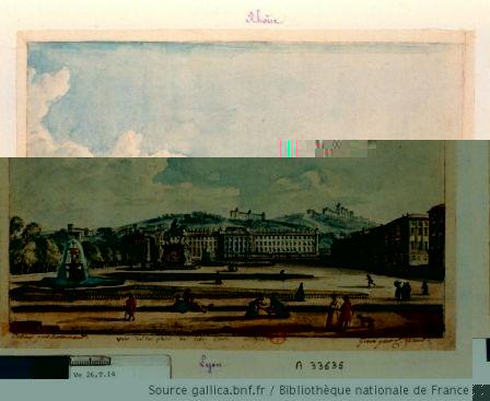 Vue de la place de belle court [i.e. Bellecour] à Lyon