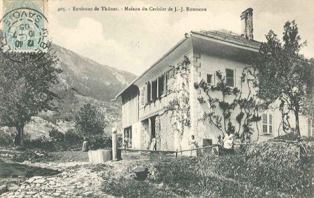 Environs de Thônes. Maison du cerisier de J. J. Rousseau