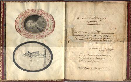 Manuscrit autographe du Devin du village de Jean-Jacques Rousseau