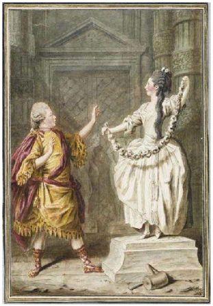 M. Messer et Mme Boissier, deux amateurs jouant dans Pygmalion