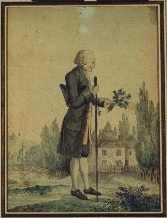 Jean-Jacques Rousseau herborisant