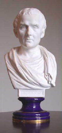 Buste de Rousseau à l'antique